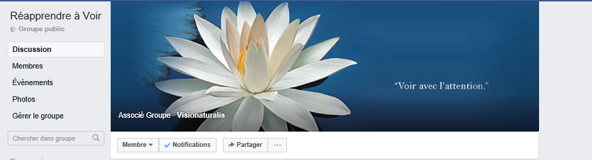 FB group Reapprendre a voir